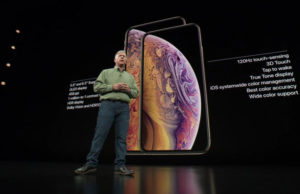 Phil Schiller, de Apple, durante la presentación del iPhone XS