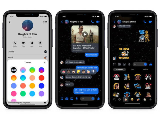 Star Wars Facebook Messenger
